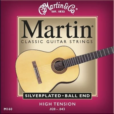 Martin M160 Silverplated Classical Guitar Strings High Tension