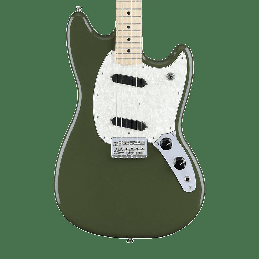 fender mustang electric guitar with maple fingerboard olive reverb. Black Bedroom Furniture Sets. Home Design Ideas
