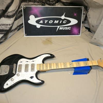 Hutchins Fury HHH Double Cut Guitar Black Body/Maple Neck for sale