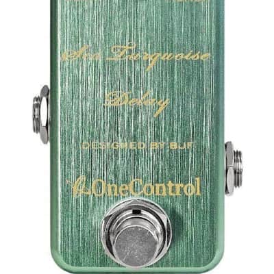 One Control BJF Designed Sea Turquoise Delay pedal for sale