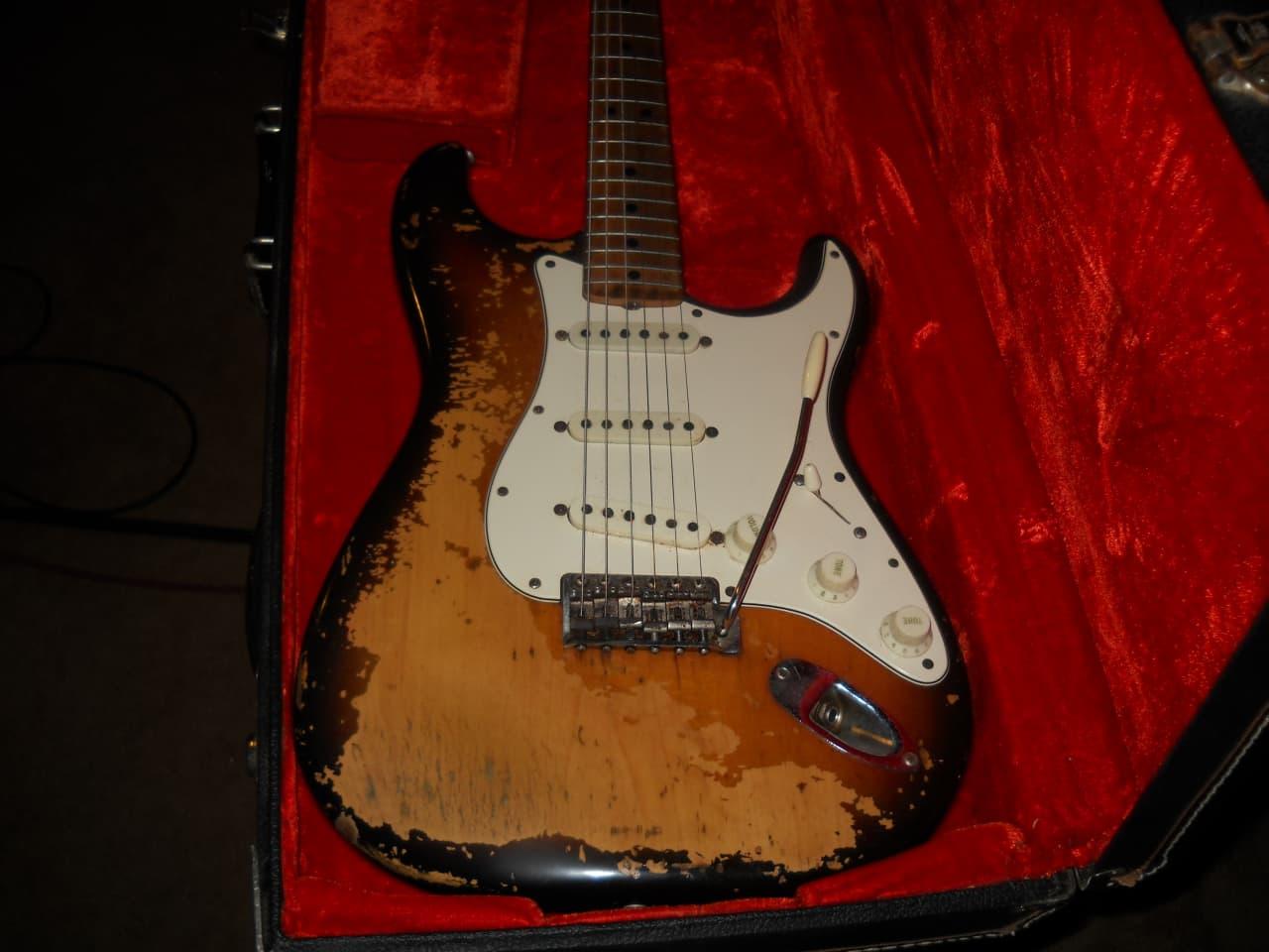 fender stratocaster 1971 sunburst scarecrow guitars reverb. Black Bedroom Furniture Sets. Home Design Ideas