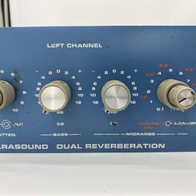 Orban 111b Dual 2 Channel Spring Reverb Parasound Reverberation Blue