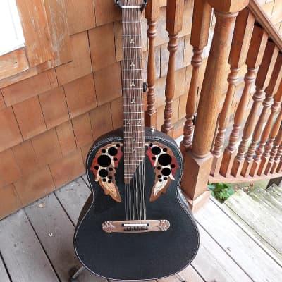 Adamas Left handed 1688gt-5 12 String Adamas black RARE acoustic guitar lefty for sale