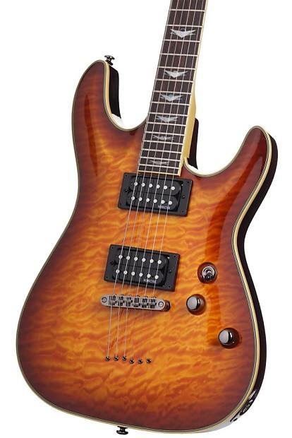 schecter omen extreme 6 electric guitar vintage sunburst reverb. Black Bedroom Furniture Sets. Home Design Ideas