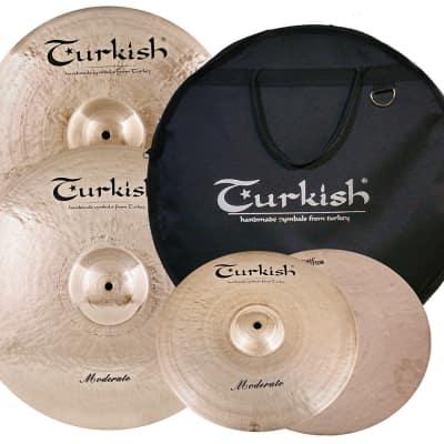 Turkish Moderate Cymbal Pack Box Set (14HH-16CR-20R) M-SET-3
