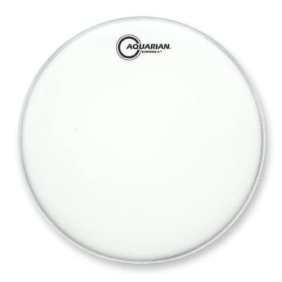 """Aquarian TCRSP2-12 12"""" White Texture Coated Response 2 Drum Head w/ Video Link"""