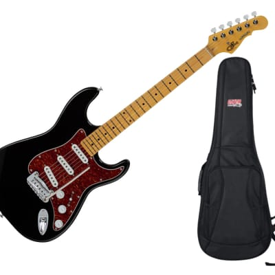 G&L Tribute Legacy Black w/ Maple Fingerboard + Gator Gig Bag for sale
