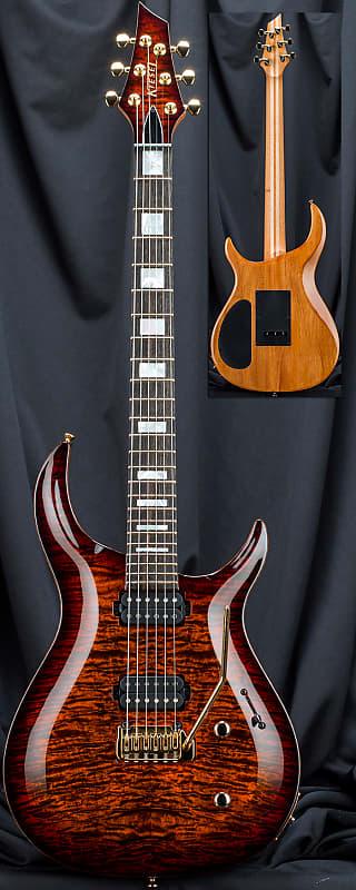kiesel c6x crescent 6 string carved top electric guitar reverb. Black Bedroom Furniture Sets. Home Design Ideas