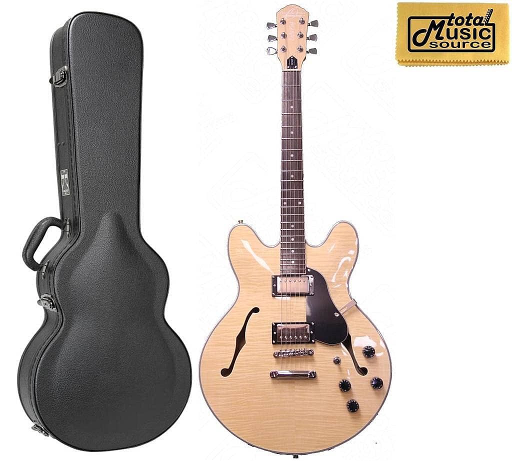 oscar schmidt delta king semi hollow electric guitar w hard reverb. Black Bedroom Furniture Sets. Home Design Ideas