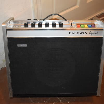 baldwin professional deluxe amplifier 1960's silver for sale