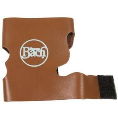 Bach Leather Trumpet Valve Guard - Brown / Velcro