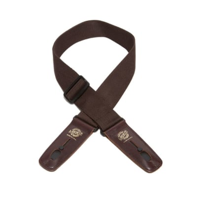 """Lock-It 2"""" Brown Nylon Strap with Brown Ends"""