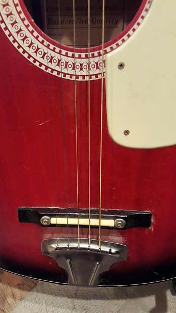 Harmony Acoustic Guitar H0301 Small Red Reverb
