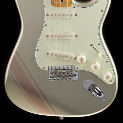 Fender FSR Traditional 50's Stratocaster Inca Silver with Shoreline Gold Stripes (748) for sale