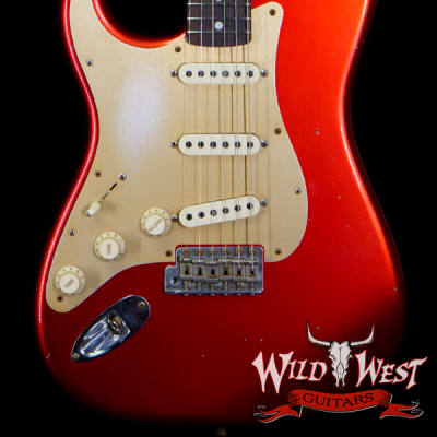 Fender Custom Shop Limited Edition Big Head Stratocaster Jouneyman Relic Hand-Wound Pickups Lefty Left-Handed Candy Apple Red for sale