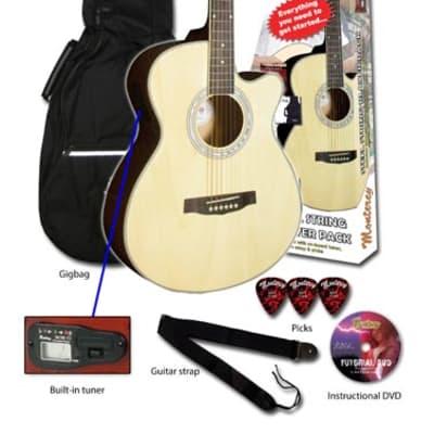 Monterey MAC-25 Acoustic Guitar Pack - Natural for sale
