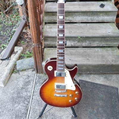 Gamma Single cutaway style guitar Japan 1970's 1970's cherry sunburst for sale