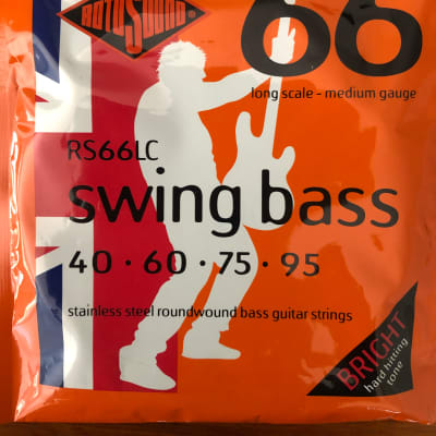 Rotosound Rotosound RS66LC Swing Bass 66 Stainless Steel Roundwound Long Scale Bass Strings Stainless Steel for sale