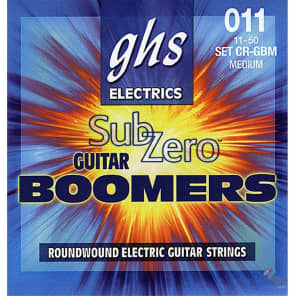 GHS CRGBM Sub Zero Boomers Guitar Strings - Medium (11-50)
