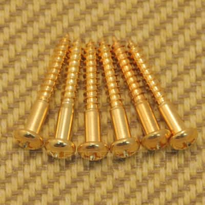GS-0013-002 (6) Tremolo Mounting Screws For Strat® - Gold