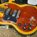 """Video! 2020 Gibson Custom Tony Iommi """"Monkey"""" 1964 SG Special Left-Handed Faded Red"""
