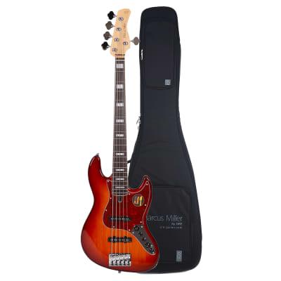 Sire Marcus Miller V7 Alder 5-String Tobacco Sunburst (2nd Gen) and Gig Bag Bundle
