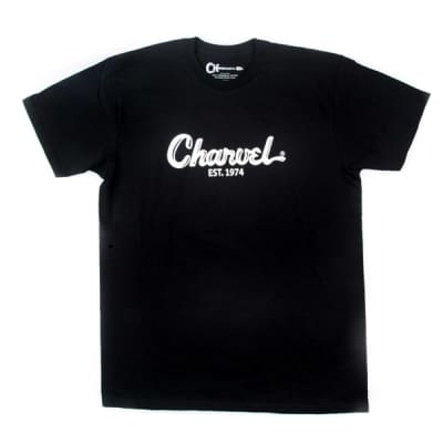 Charvel Guitars Toothpaste Logo Tee T-Shirt in Black - Extra Large #0998727806