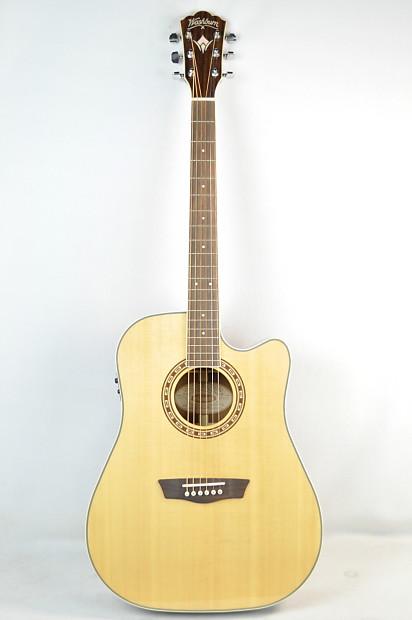nos washburn wd20sce acoustic electric guitar reverb. Black Bedroom Furniture Sets. Home Design Ideas