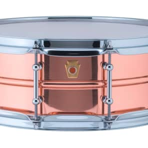 """Ludwig LC660T Copper Phonic 5x14"""" Snare Drum with Tube Lugs"""
