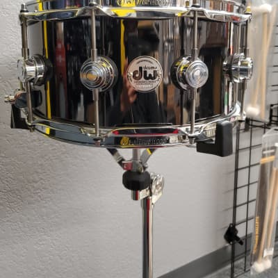 """DW 6.5"""" X 14"""" COLLECTOR'S SERIES BLACK NICKEL OVER BRASS SNARE DRUM W/ CHROME HARDWARE 2019"""