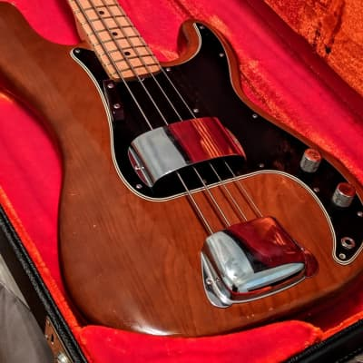 Fender Mocha Precision Bass Guitar (Vintage 1977 Original) for sale