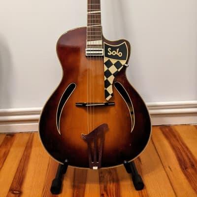 Restored Perl Gold Solo 1960 Sunburst German Vintage Jazz Guitar for sale