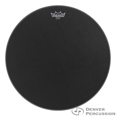 "Remo BE-0818-ES- Batter, Emperor, Black Suede, 18"" Diameter"