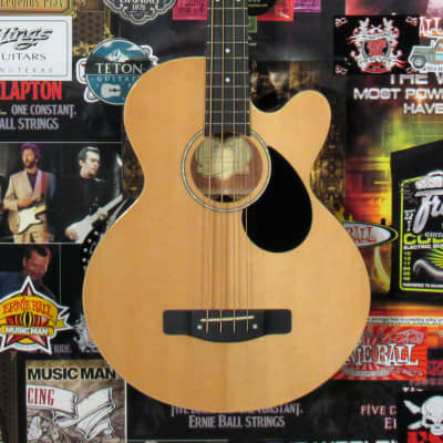 Greg Bennett by Samick - AB2-N Standard Acoustic Electric Bass - Natural