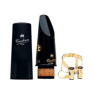 Vandoren CM60068KG Masters Bb Clarinet Mouthpiece With M/O Gold Ligature - CL6 Facing