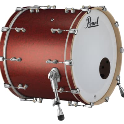 "Pearl Music City Custom Reference Pure 24""x14"" Bass Drum w/BB3 Mount Red Glass"