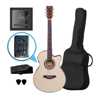Artist LSPSCEQ Natural Beginner Small Body Acoustic Electric Guitar for sale