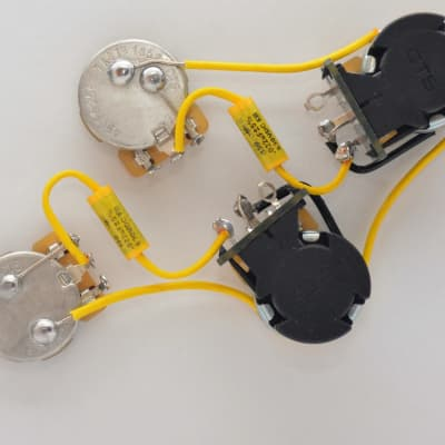 Les Paul 50 39s Wiring Harness 022uf 015uf Orange Drop ...  S Les Paul Wiring Diagram on