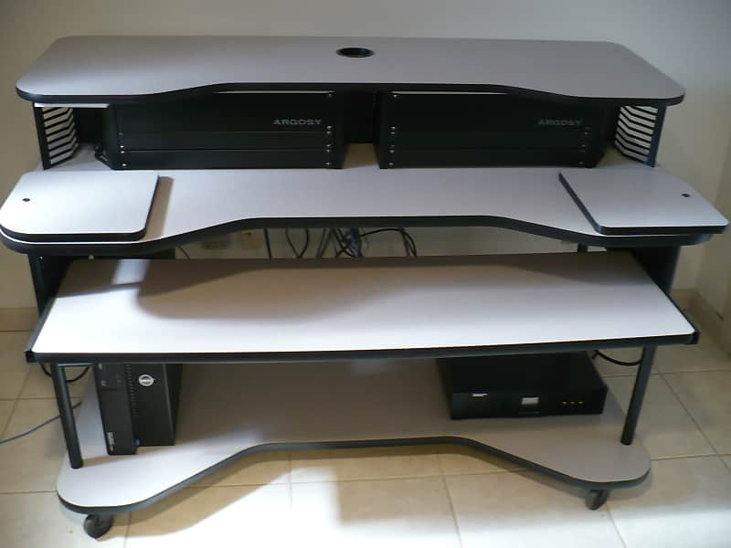 Studiotech Video Audio Studio Music DAW Record Computer Production Desk  Furniture w/8U Rack