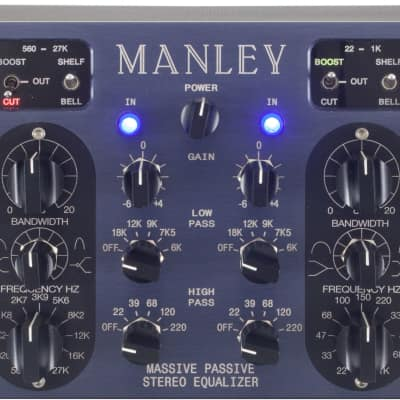New Manley Labs Massive Passive Stereo Tube Equalizer