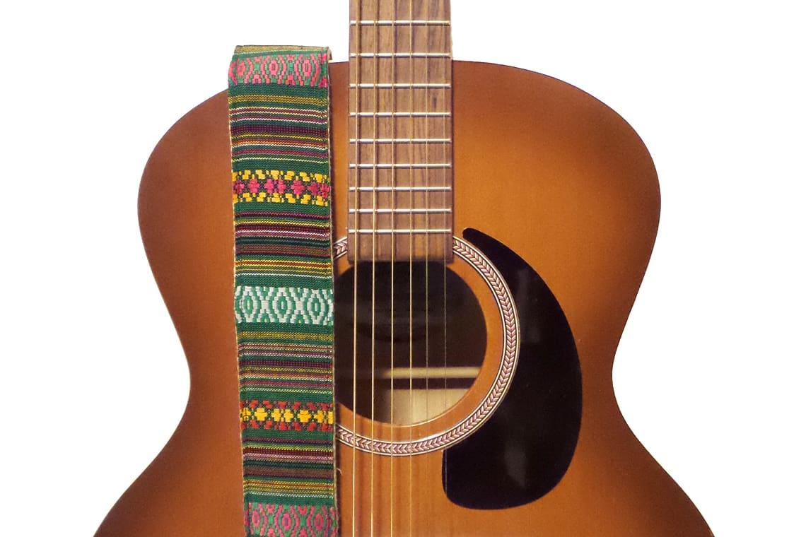 feedback green bohemian stripes hemp guitar strap reverb. Black Bedroom Furniture Sets. Home Design Ideas