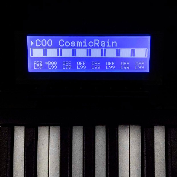 Korg 01/W NEW LCD Display replacement blue | synth-parts-com