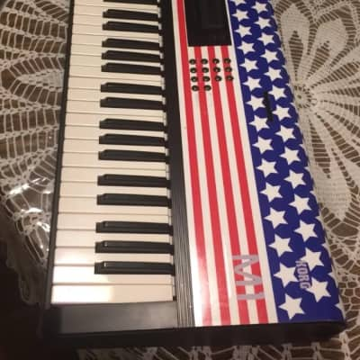 Korg M1  M1 1989 USA FLag desing Red,navy blue and white