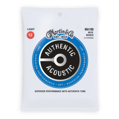Martin MA190 Authentic Acoustic Strings 80/20 12 String Light .012-.054