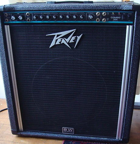 peavey combo 300 bass or guitar amp 1989 black reverb. Black Bedroom Furniture Sets. Home Design Ideas