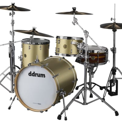 DDrum Dios 320 3pc 100% Maple Shell Pack in Satin Gold Lacquer 12/14/20