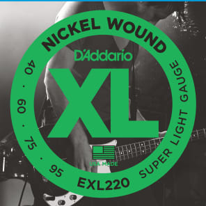 D'Addario EXL220 Super Light Long Scale Bass Guitar Strings