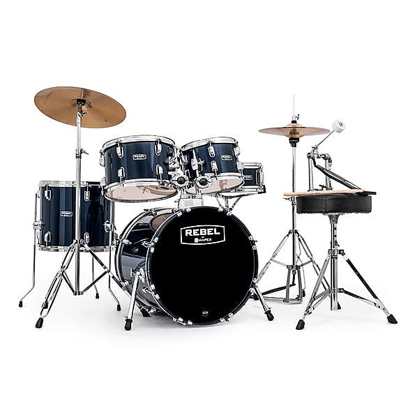 Mapex RB5044FTCYB Rebel -  Complete 5pc  with Cymbals 2020