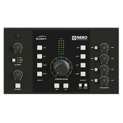 Audient Nero Desktop Monitor Controller,  Black and Gray