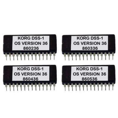 Korg DSS-1 Latest OS Version 36 ROM firmware upgrade EPROM update